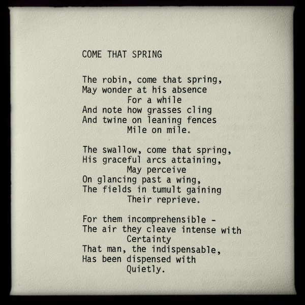 Come That Spring | a poem by George Murray