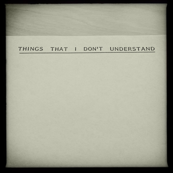he wrote lists of things he did not understand. // george murray poet