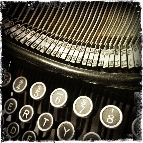 Found old typewriter! / I hear Father's voice through it / though it was not his.