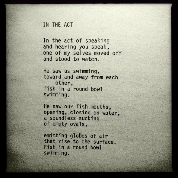 IN THE ACT – poem by George Murray